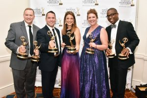"""Mike Ingalls, Matt DeLucia, Deanna Durante, Naomo Morales and Anzio Williams won an several Emmys for """"Deadly Derailment May 13, 2015"""" - NBC10"""