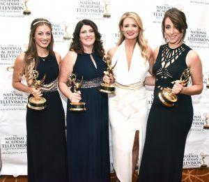 Samantha Corrado, Alexis McCann, Jillian Mele and Sarah Baicker won an Emmy for Comcast's Breakfast on Broad.